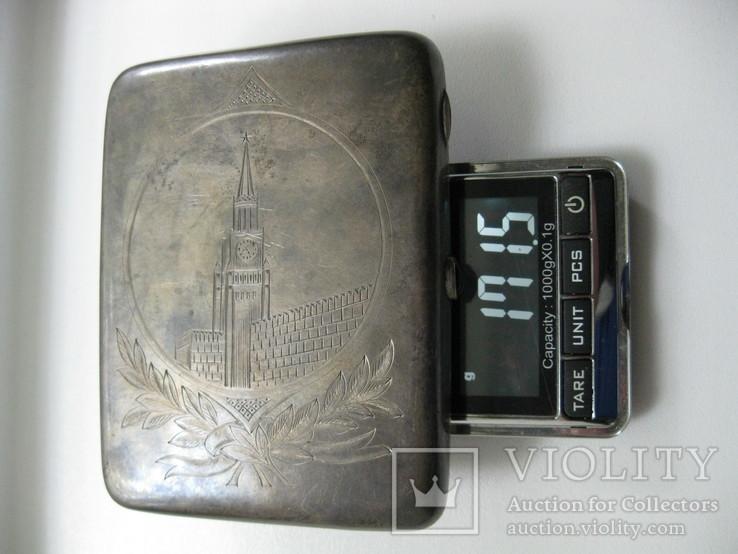 Портсигар  серебро, фото №12