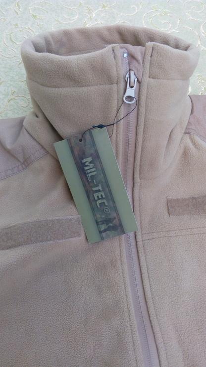 Милтек куртка флис ветрозащитная Койот, фото №8