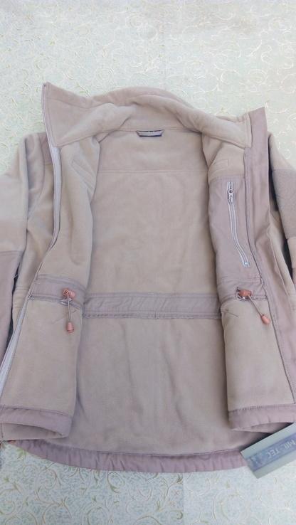 Милтек куртка флис ветрозащитная Койот, фото №10