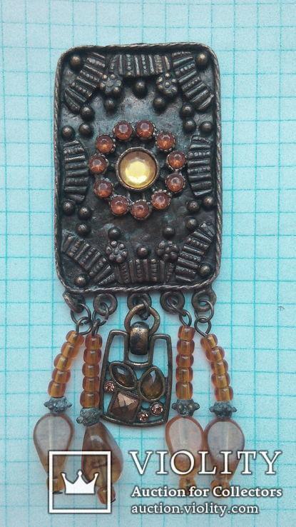 Бронзовый кулон, фото №3
