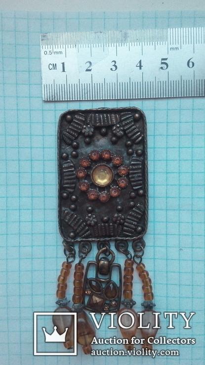 Бронзовый кулон, фото №9