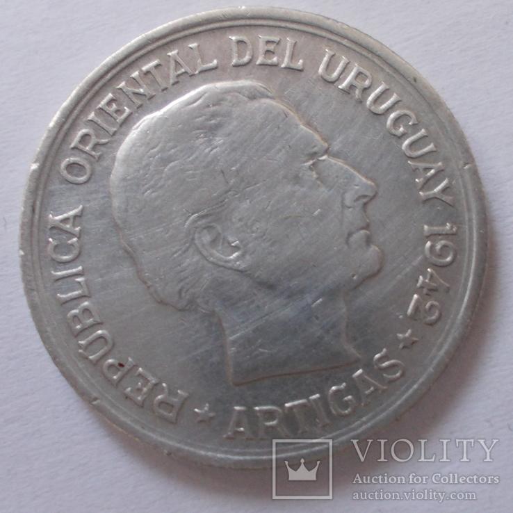 Уругвай 1 песо 1942 года.