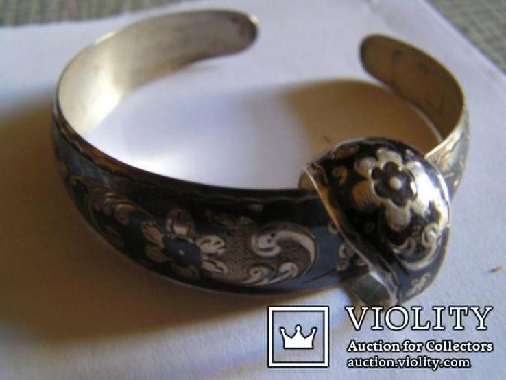 Браслет и кольцо комплект - серебро Кубачи Дагестан, фото №3
