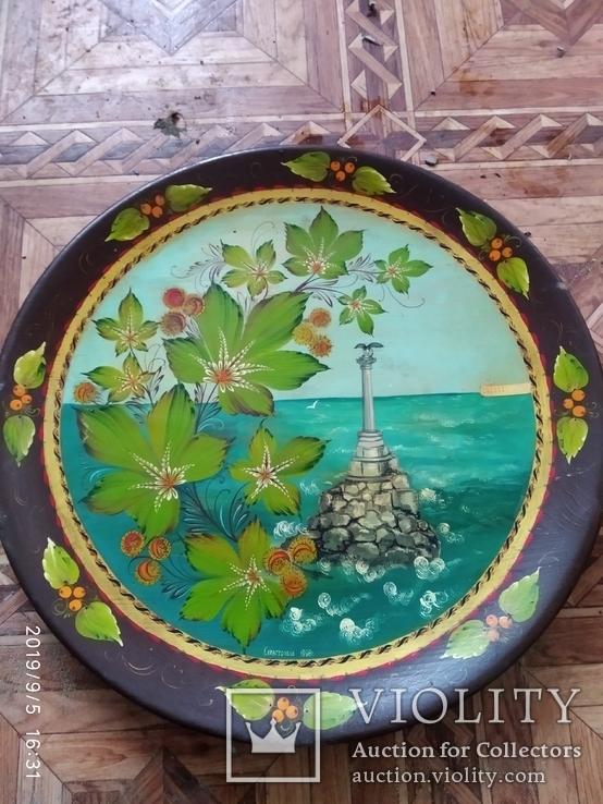 Тарелка настенная расписная, фото №2