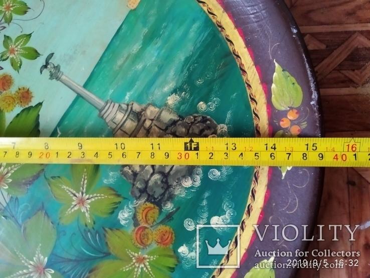Тарелка настенная расписная, фото №7
