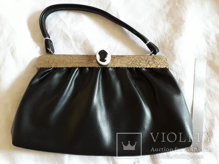 Женская сумка с камеей., фото №2