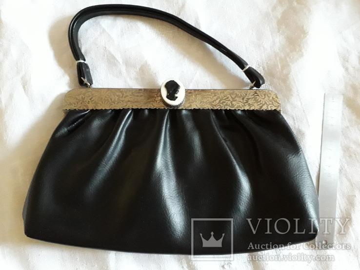 Женская сумка с камеей., фото №3