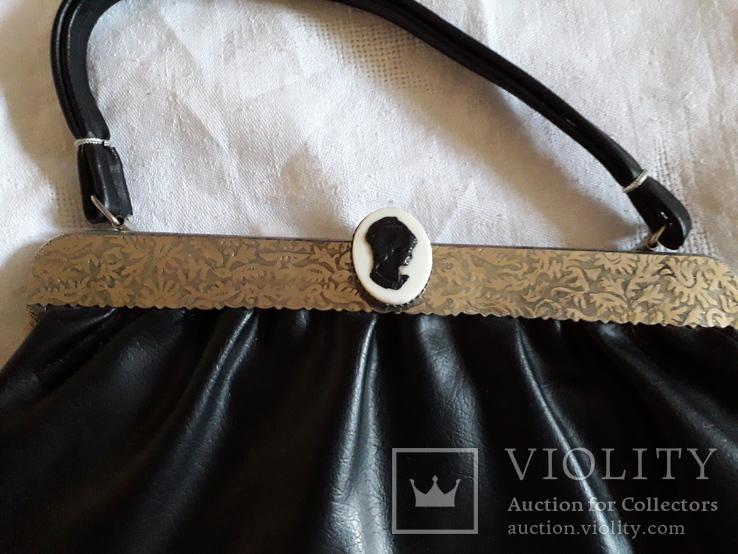 Женская сумка с камеей., фото №5