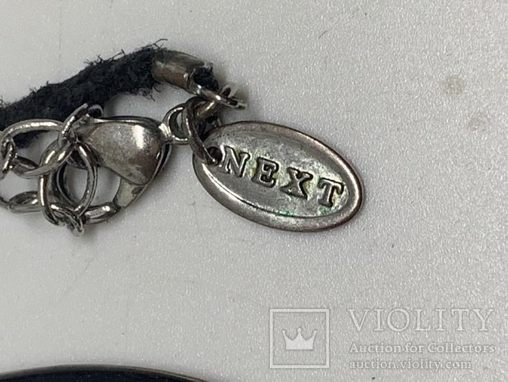 Черный кулон на шнурке от торговой марки NEXT, фото №3