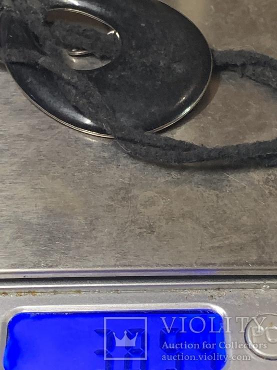 Черный кулон на шнурке от торговой марки NEXT, фото №7
