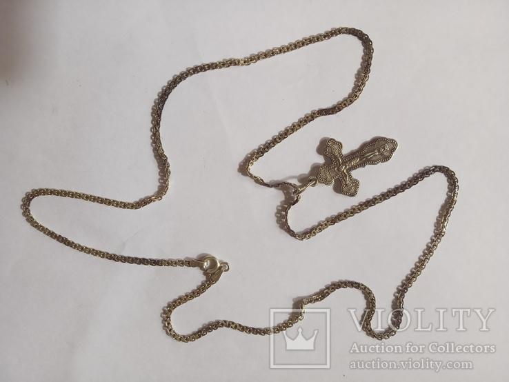 Серебряные крестик и цепочка., фото №4