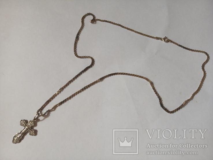 Серебряные крестик и цепочка., фото №5