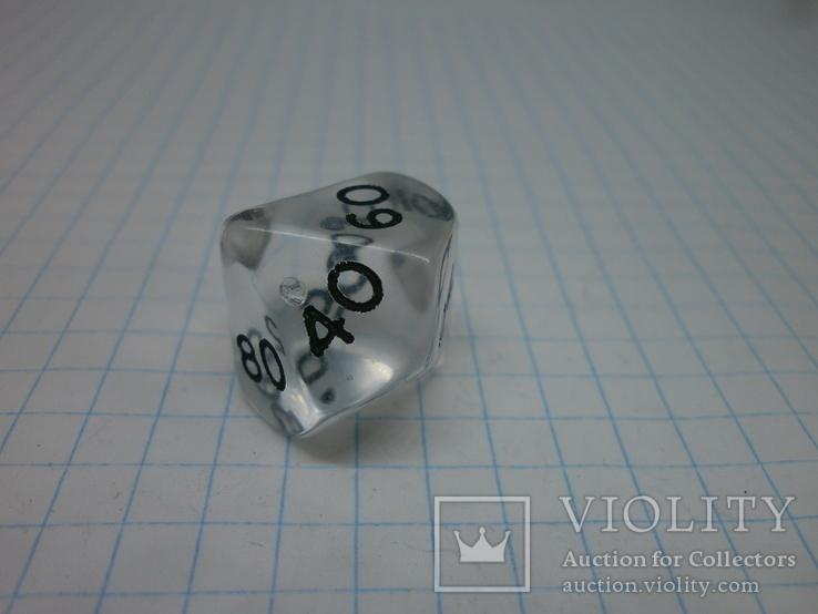 Пара кубиков для игр. 10-ти гранник, фото №3