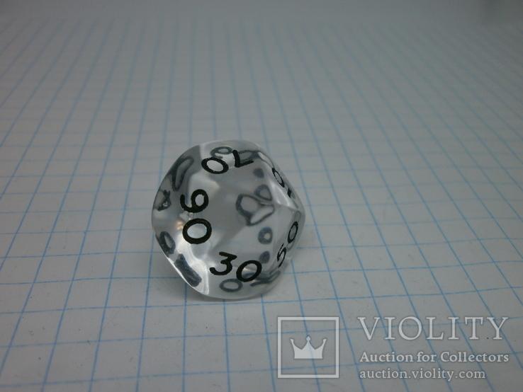 Пара кубиков для игр. 10-ти гранник, фото №5