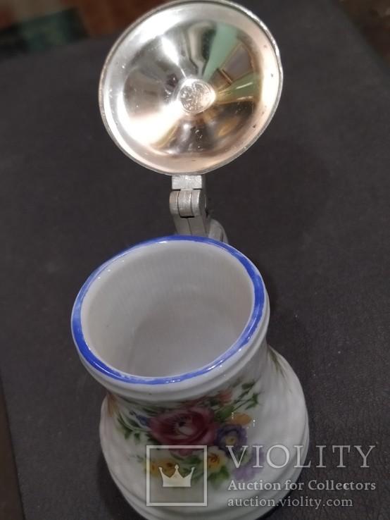 Кружка декоративная коллекционная фарфор металл клеймо, фото №8