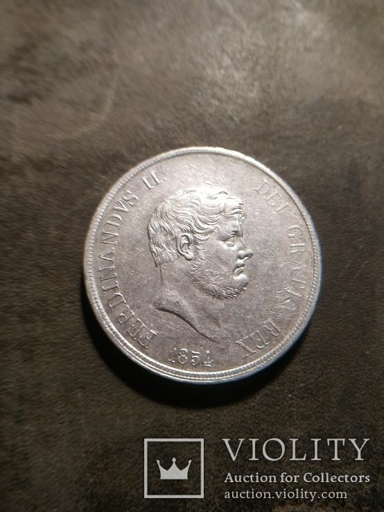 120 грана 1854. Неаполь. Серебро.