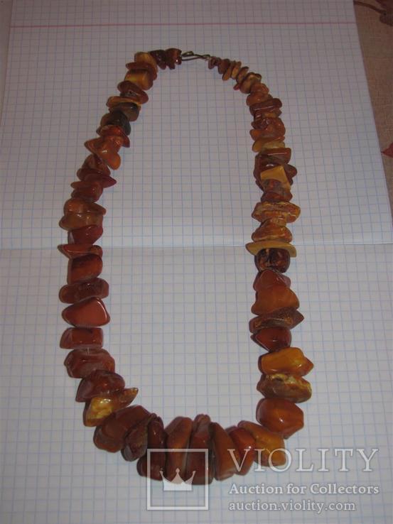 Бусы янтарные (2) вес 88.55гр, фото №2