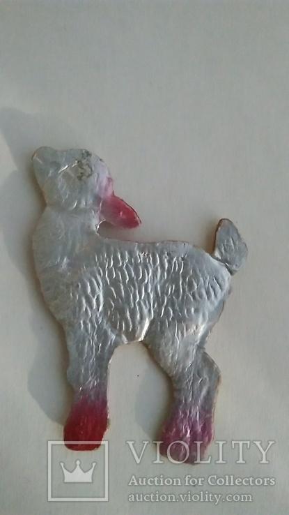 Ёлочная игрушка из картона Козлёнок, фото №2