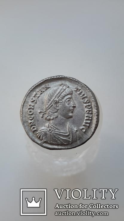 Constantius II. AD 337-361. AR Siliqua (R3) (вес-3.59 гр.), фото №4