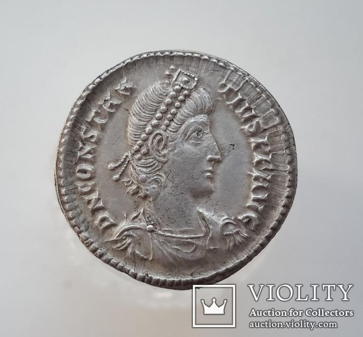 Constantius II. AD 337-361. AR Siliqua (вес-3.2 гр.), фото №4