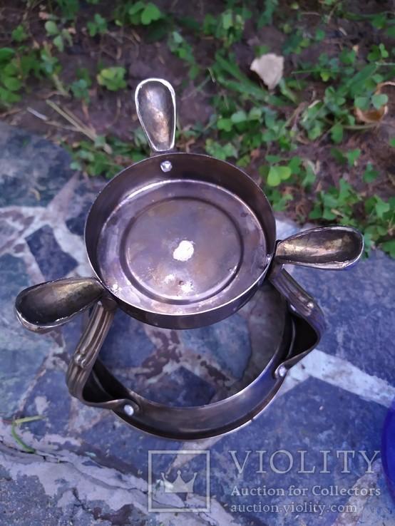Ваза конфетница изящная металл стекло, фото №11