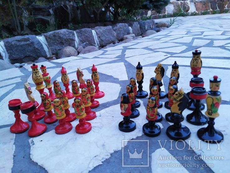 Шахматы набор росписные яркие новые