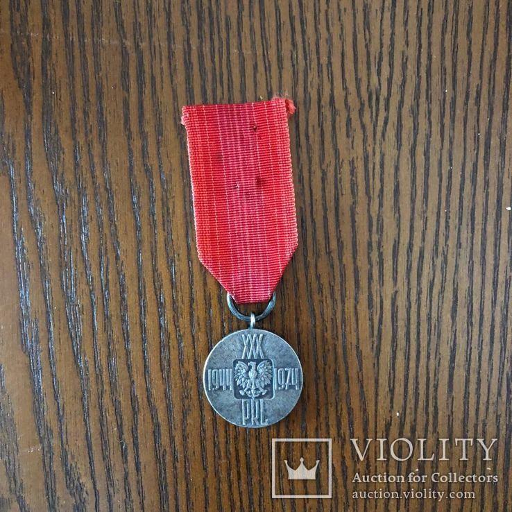 Польша. Медаль 30 лет Народной Польше. 1944-1974 г, фото №2