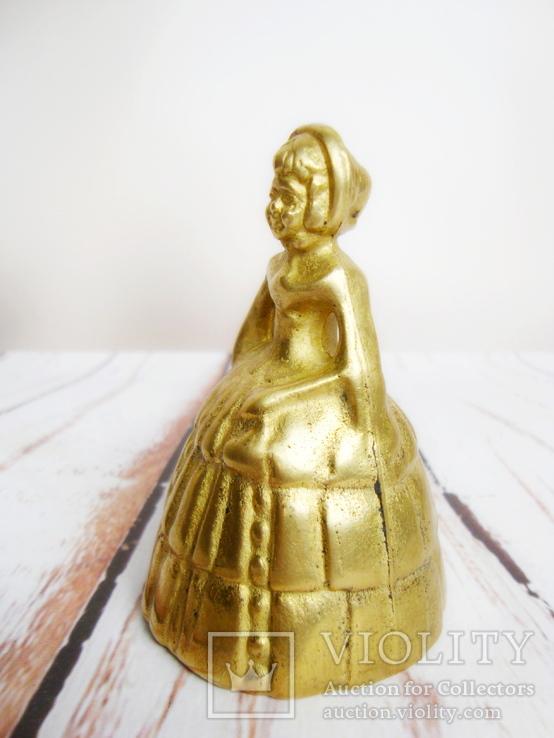 Старинный колокольчик Девочка. Нач 20-го вв. Англия, фото №6