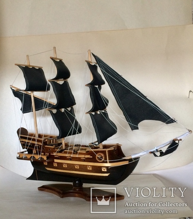 Парусник 3х мачтовый (пиратский корабль) Черная жемчужина, фото №2