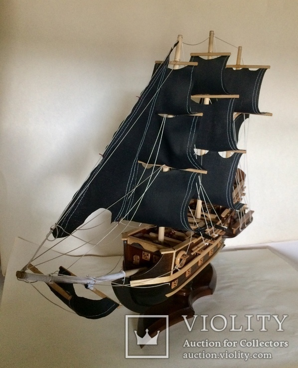 Парусник 3х мачтовый (пиратский корабль) Черная жемчужина, фото №6