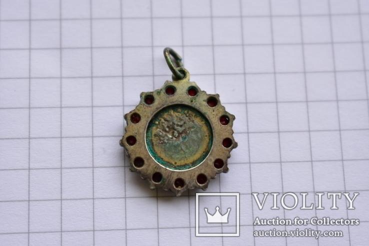 Старинный кулончик- Ангелок с чешскими гранатами, фото №8