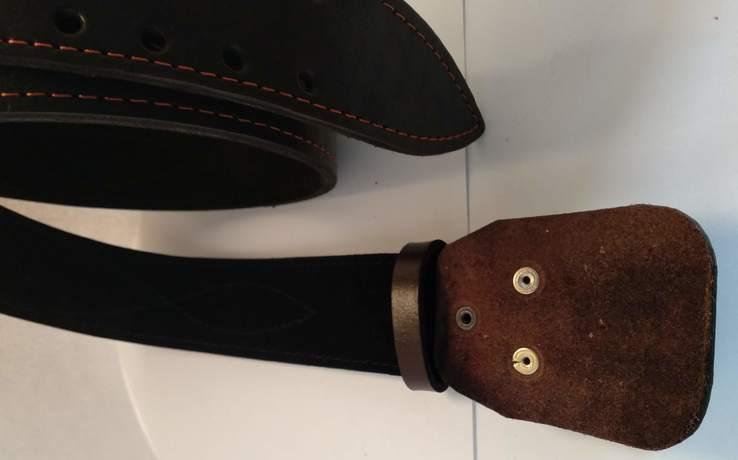 Портупея, офицерский ремень коричневый, двойная кожа, фото №5