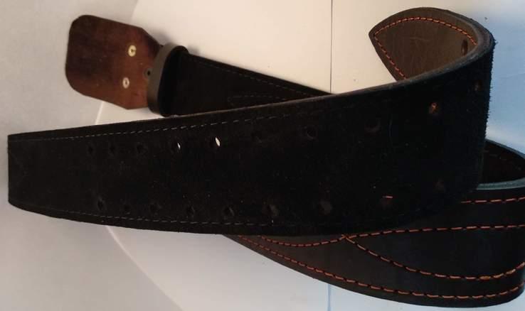 Портупея, офицерский ремень коричневый, двойная кожа, фото №10