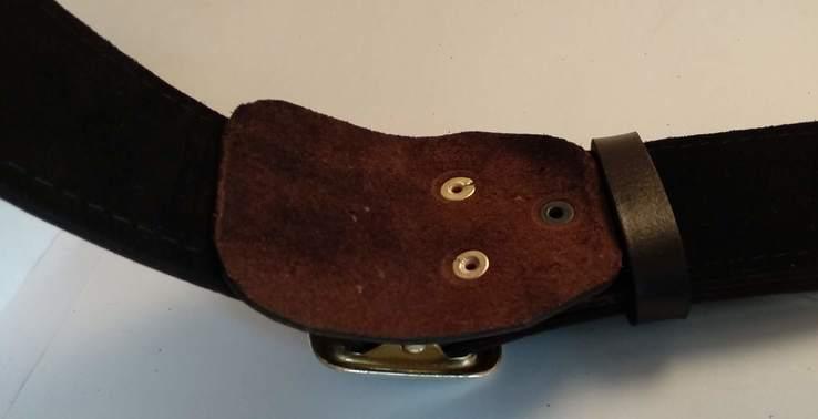 Портупея, офицерский ремень коричневый, двойная кожа, фото №13