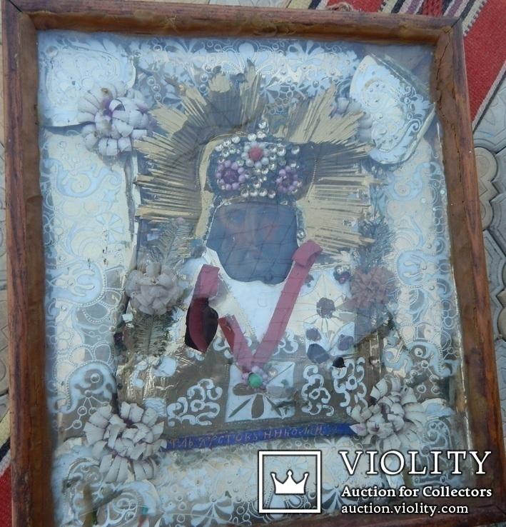Икона Св. Николай. Дерево 46 Х 40 см., фото №3