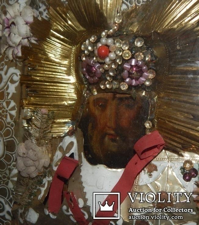 Икона Св. Николай. Дерево 46 Х 40 см., фото №7