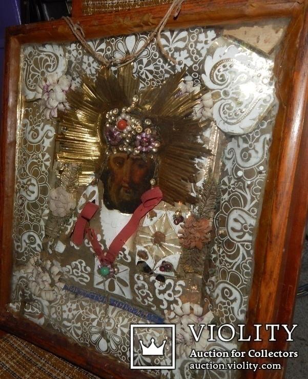 Икона Св. Николай. Дерево 46 Х 40 см., фото №10