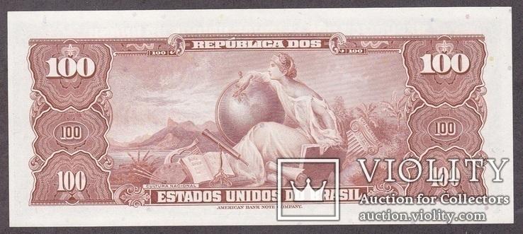 Бразилия / Brasil 100 Cruzeiros 1964 г. UNC, фото №3