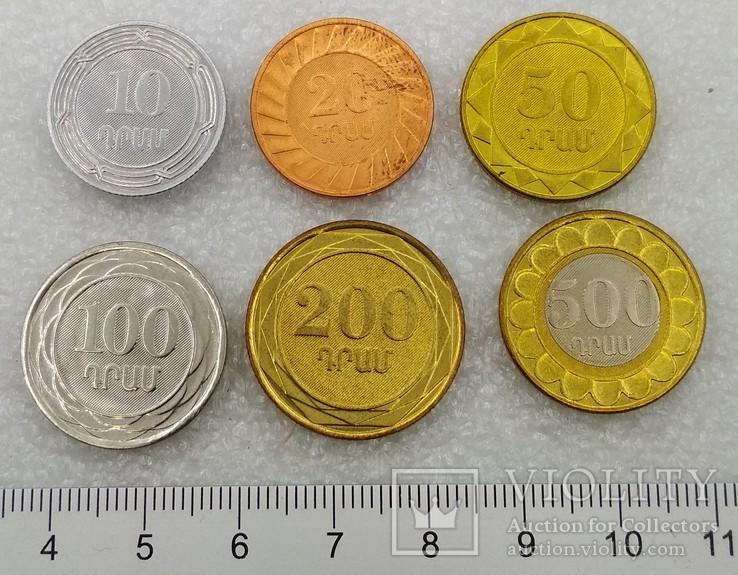 Арменя 10, 20, 50, 100, 200, 500 Драмм 2003-2004 гг.