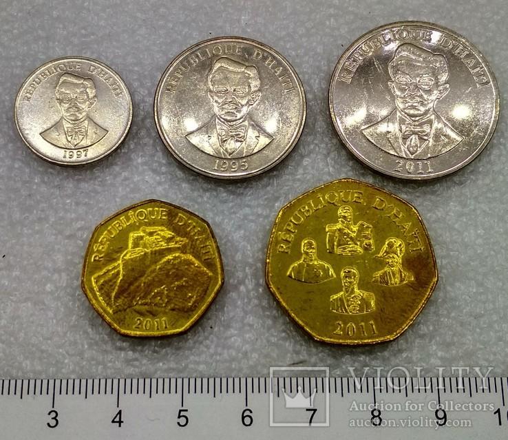 Гаити 5 , 20 , 50 сантимов 1 , 5 гурд 1995 - 2011 гг., фото №3