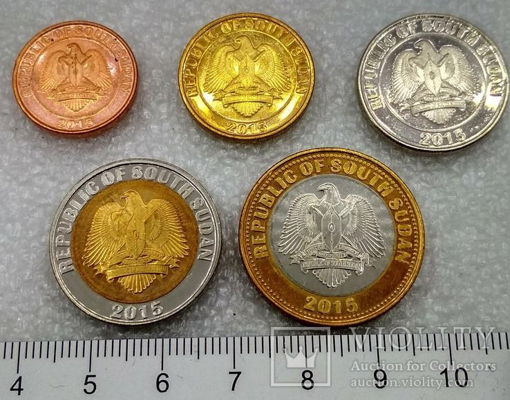Южный Судан 10 , 20 , 50 Пиастров 1 , 2 , Фунта 2015 г., фото №3