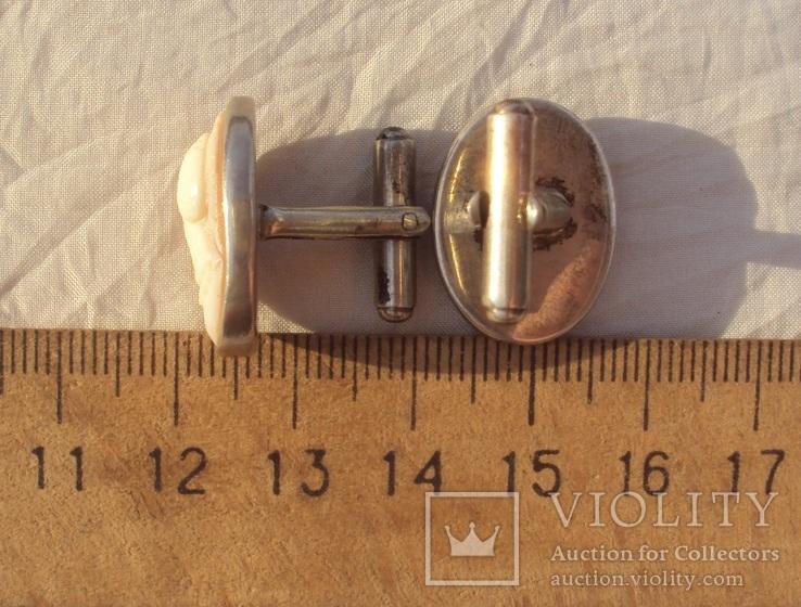 Запонки с камеями, серебро., фото №13