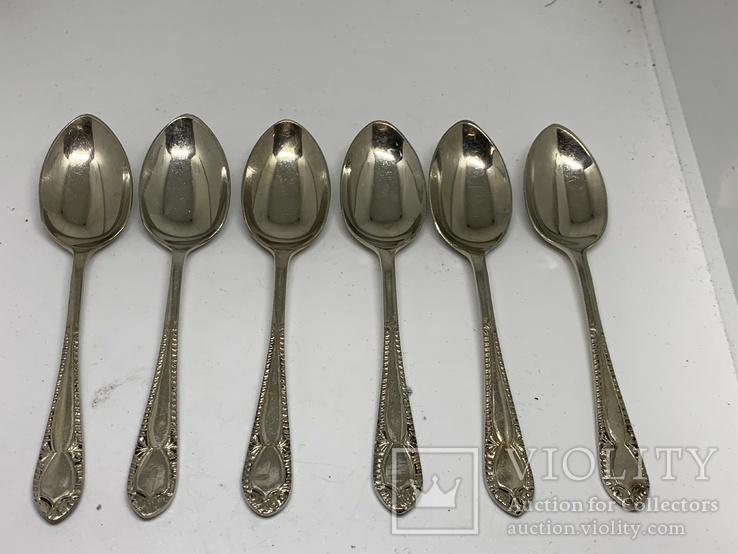Набор 6 ложек Джона Генри Поттера  маркировкой ARARA Silver Potter`s.11см 1900-1940, фото №2