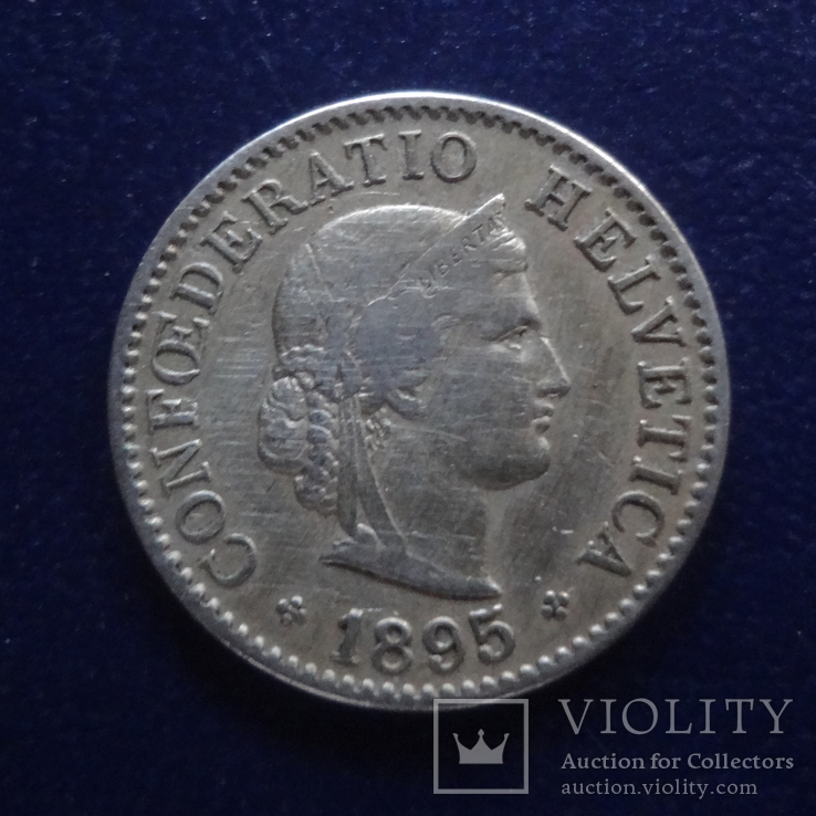 5 раппенов 1895 Швейцария (2.5.32)~, фото №2