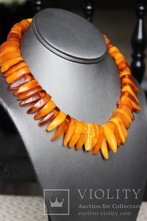 Янтарный чокер 69грамм, фото №3