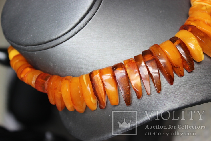 Янтарный чокер 69грамм, фото №4