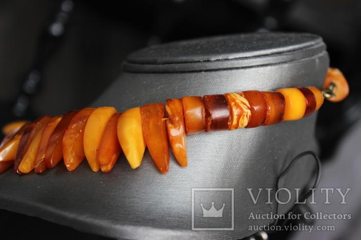 Янтарный чокер 69грамм, фото №7