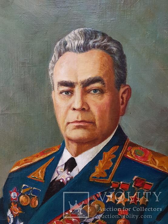 Картина соцреализм Брежнев в кабинете Редкая!!!, фото №3