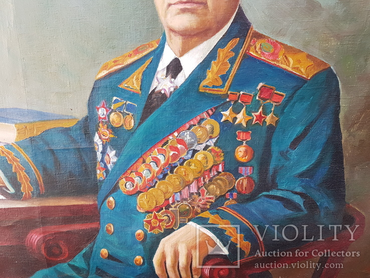 Картина соцреализм Брежнев в кабинете Редкая!!!, фото №4