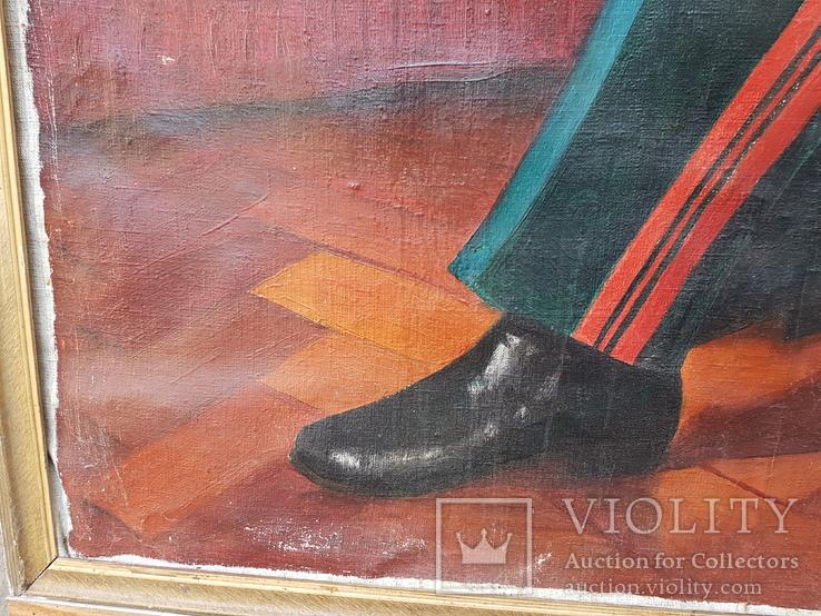 Картина соцреализм Брежнев в кабинете Редкая!!!, фото №9